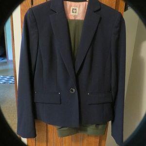 Anne Klein dark Navy blazer Lafayette loden slacks